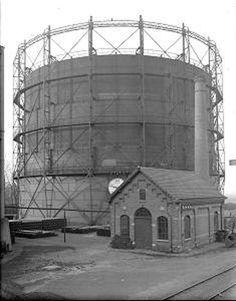 Oude gashouder van de Leidse Gasfabriek
