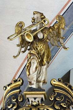 Angel Trombonists Throughout History: 118 Images Trombone, 15th Century, Trumpet, Musical Instruments, Baroque, Musicals, Angel, Entertaining, Statue