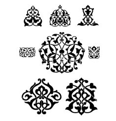 Illustration of Arabesque vector collection for design vector art, clipart and stock vectors. Design Vector, Vector Art, Pinstriping, Motif Arabesque, Motif Art Deco, Mandala, Islamic Patterns, Carving Designs, Pointillism