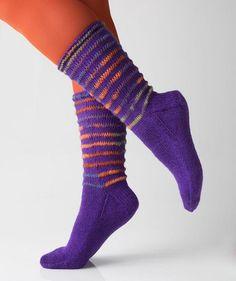 Socken mit langen Maschen by Charles D. Gandy, R0242 - Gratisanleitung