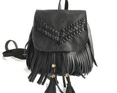 donne mini zaino, zaino piccolo nero, borsa intrecciata, mini zaino, borsa, borsa in pelle intrecciata, in pelle nera, zaino in pelle nera