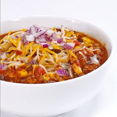 How to Make Slow-Cooker Turkey Chili | MyRecipes.com# slow cooker healthy recipes
