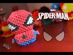 Spiderman 3D Origami | Pekeño ♥ - YouTube