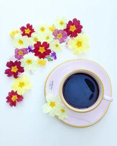 Beautiful coffee ☕🌸🌻