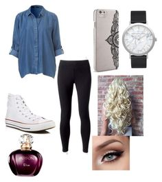 """School outfit "" by isabellmurillo on Polyvore featuring Jockey, Converse, Nanette Lepore and Elwood"