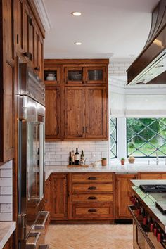 KITCHEN – Rustic Reclaimed Chestnut - rustic - kitchen - new york - Crown Point Cabinetry