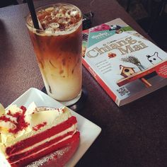macchiato and  cake mania red velvet.