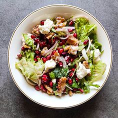 Pomegranate and feta salad - A healthy and tasty Mediterranean salad