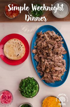 A customizable dinner everyone can enjoy – our Slow Cooker Pork Tacos are the perfect family dinner made with Florida Orange Juice.