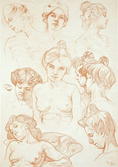 Study drawings by Alphonse Mucha*