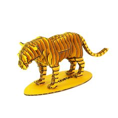 Yellow tiger cardboard sculpture. Beautiful and educational.