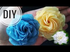 DIY || Gardenia Fabric Flower Tutorial | Rose | Handmade - YouTube