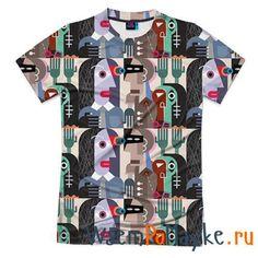 Мужская футболка 3D с полной запечаткой Импрессионизм 16 купить в интернет магазине WsemPoMayke.Ru http://wsempomayke.ru/product/manshortfull/1039990  Доставка по России курьером или почтой, оплата при получении. Посмотреть размеры и цену > http://wsempomayke.ru/product/manshortfull/1039990