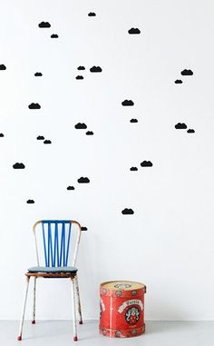 Wallsticker Mini Clouds von ferm LIVING