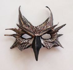 Owl half mask, woodland creature, night owl, brown, wearable, unique mask, paper mache by ArtisanMasks on Etsy https://www.etsy.com/listing/261735195/owl-half-mask-woodland-creature-night