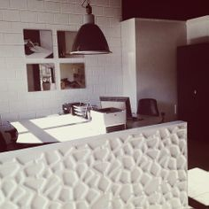 3d wall panels Gaps design from WallArt in office