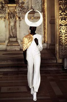Alex Wek. Givenchy Couture Fall 1997 by McQueen