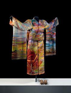 """Woven Glass Kimono, """"Autumn Sunset"""" Eric Markow & Thom Norris,"""