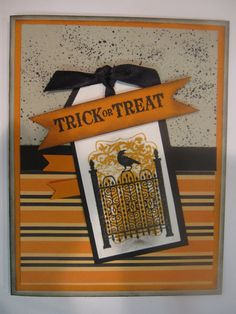 "halloween+homemade+cards | Stampin' Up Handmade Greeting Card: Halloween ""Toxic ... 