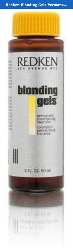 Redken Blonding Gels Permanent Conditioning Hair Color 2oz 60ml (CLEAR). Provides exceptional gray coverage, from a few strands to high percentages of gray. Color Gels results are long-lasting and hair is left in superior condition. The Select Dye System contains 100% oxidative, UV-stable, long-lasting dyes for holding power and resistance to fading. Wheat proteins and avocado oil add strength and condition, keeping hair shiny and healthy-looking.