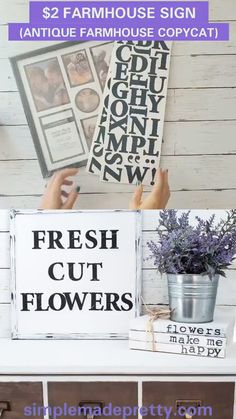 These DIY Dollar Store Farmhouse Signs are going to blow you away! These are not your typical Farmhouse signs but they sure look like them! Keep reading for how to make these DIY Dollar Store Crafts Farmhouse Signs! Décor Antique, Antique Farmhouse, Farmhouse Decor, Farmhouse Signs, Farmhouse Style, Farmhouse Kitchen Diy, Farmhouse Wall Art, Diy Rustic Decor, Rustic Wall Art