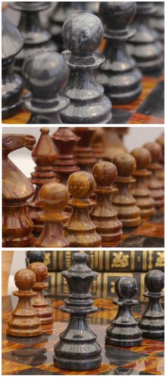 Beautiful red and black marble complete chess set. Marble board and case included! As skilfully detailed as our wooden chess sets. M2091. Brought to you by ChessBaron.co.uk