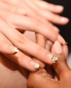 Why get a white-tipped French manicure when you can have a gold-encrusted one? Just take a cue from Nicholas K and pick up some gold-leaf foil and nail glue