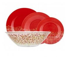 Set de masa 19 piese Flowerfield Red