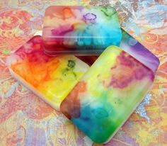 kids and I made some great tie dye soap today - pretty easy