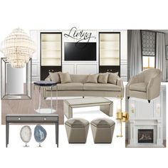 Livign ZR3 by naala-art on Polyvore featuring polyvore, interior, interiors, interior design, home, home decor, interior decorating, Yves Saint Laurent, Chalou and Sony