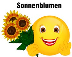 Smiley – Sonnenblumen
