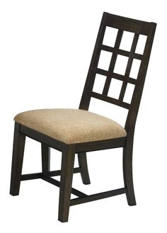 Casual Traditions Walnut Side Chairs - Set of Two