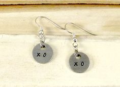 Hey, I found this really awesome Etsy listing at https://www.etsy.com/listing/166418527/xoxo-earrings-hand-stamped-earrings