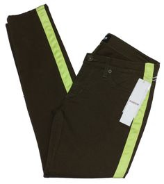 Hudson Jeans Womens Denim LOULOU Skinny Leg Tuxedo Crop Chopin Green 26 NEW $198 #HUDSON #SlimSkinny