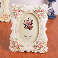 Find More Frame Information about Romantic 6 Inch Vertical Picture Frames European Style Wedding Children Family Photo Frame Resin Home Furnishing Decoration Art,High Quality frames vision,China decorative wall photo frames Suppliers, Cheap decorative magnetic picture frames from Handicraftsman on Aliexpress.com