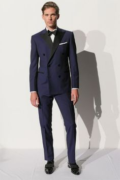 2014 Custmized Navy Blue Double breast suit  for men /groomwear wedding suit include(jacket+Pants+tie) free shipping $259.00