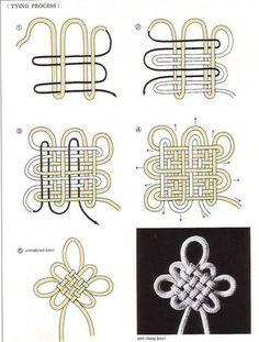 Sewing Hacks, Sewing Crafts, Nudo Simple, Korean Accessories, Chinese Crafts, Decorative Knots, Anime Crafts, Diy Friendship Bracelets Patterns, Jewelry Knots