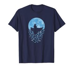 ec8c5c5bbad Amazon.com  Hooked by Moonlight Fishing T-shirt  Clothing fishing