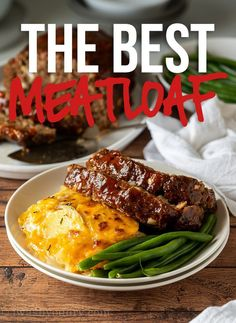 This is the BEST Classic Meatloaf Recipe out there! Super moist, easy to make and everyone always gives it RAVE reviews! How To Cook Meatloaf, Best Meatloaf, Pork Chop Recipes, Meatloaf Recipes, Meatloaf Ingredients, Classic Meatloaf Recipe, Classic Recipe, Slow Cooker Meatloaf, Meat Loaf Recipe Easy