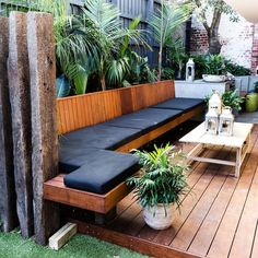 Backyard design ideas for your home. Landscaping, decks, patios, and more. Build the perfect outdoor living space Outdoor Decor, Home, Small Backyard, Building A Deck, Outdoor Rooms, Outdoor Lounge, Seating Area, Outdoor Design, Backyard Seating Area