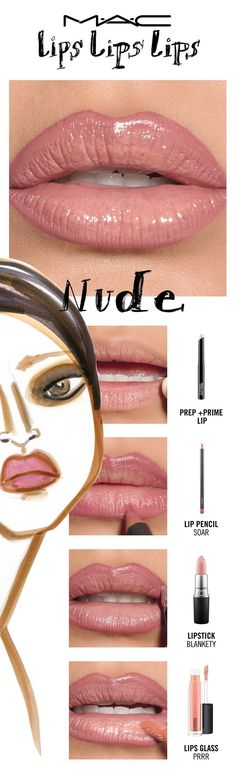 Go in the buff with the perfectly overdrawn look of The Instagram Nude! We've got nude lip ideas for every skin tone. Try a lip trend, then make it your own! Your choice. Your creation. Your trend.  Created by MAC Senior Artist Ashley Rudder. #lipcolorsforskintone