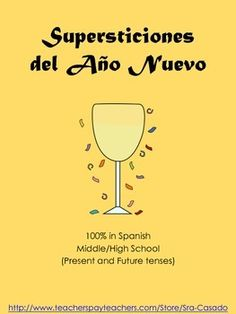 Fun New Years writing and discussion activity:  New Year Superstitions.  100% in Spanish. $