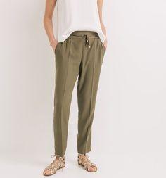 Pantalon style jogging Femme kaki - Promod
