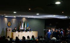 Coletiva de imprensa na Sede da Superintendência da Polícia Federal em Curitiba nesta sexta-feira (1º). Foi deflagrada a 27ª fase da Operação Lava Jato batizada de Operação Carbono 14 (Foto:  Rodolfo Buhrer / La Imagem / Fotoarena / Ag. O Globo)