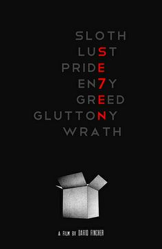 """Nice typographic poster design, all works well with representing the theme of the film through the poster, however I don't think the works that well in """"envy"""", doesn't read well. Best Movie Posters, Minimal Movie Posters, Movie Poster Art, Image Cinema, Cinema Tv, Hollywood Cinema, Scary Movies, Horror Movies, Good Movies"""