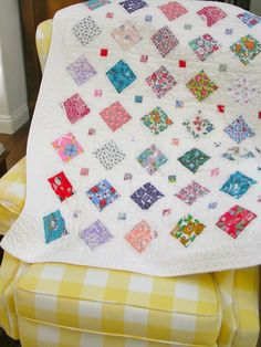 Vintage Feedsack Quilt by QuiltAttic on Etsy, $120.00