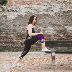 Legs feeling tight after running? 🏃♀ Our soft stretch pants allow you to stretch your legs well. Don't forget to make stretching part of your workout routine! After Running, Stretch Pants, Stretching, Don't Forget, Routine, Sportswear, Tights, Sporty, Legs