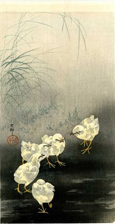 ✽    ohara koson  -   woodcut