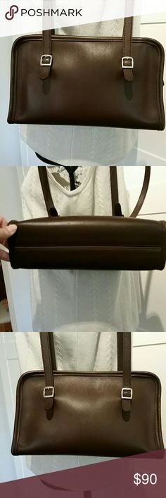 """Excellent Condition Coach Handbag  """"J8C9051"""" Gorgeous  Coach Handbag  rarely used. I  am estimating it is about 20 years old. The leather is impeccable. Coach Bags"""