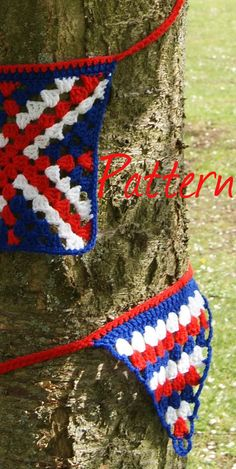 pdf pattern crochet union jack bunting by StringTheoryC on Etsy